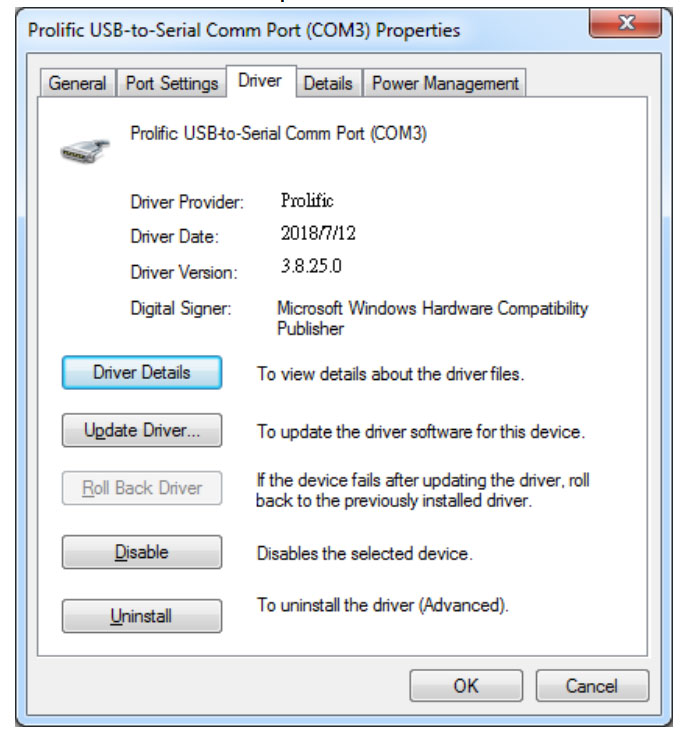 Prolific USB to Serial Driver