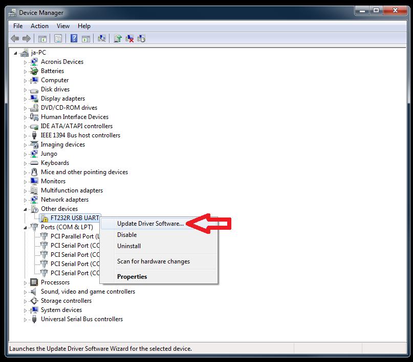 FT23R USB UART DRIVERS FOR PC