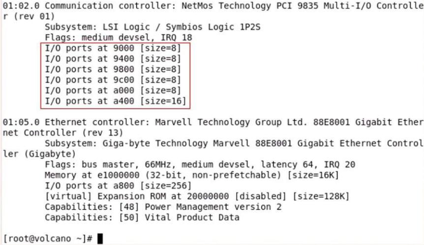 MCS98xx Linux parallel driver
