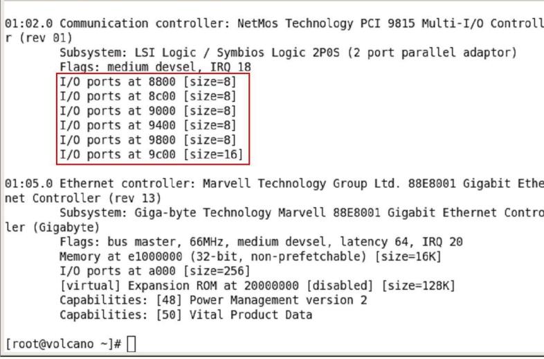 MCS9815 parallel ports
