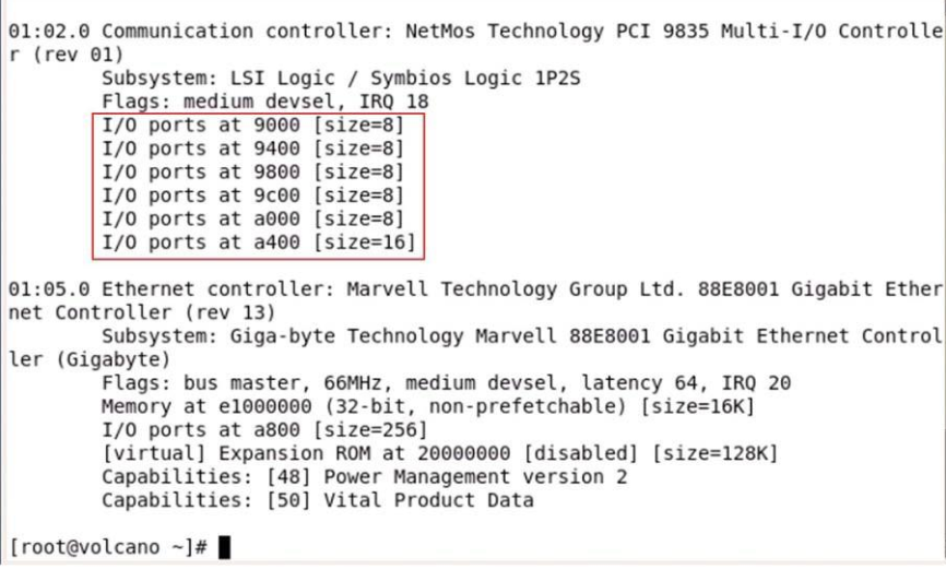 MCS98xx Linux serial port driver